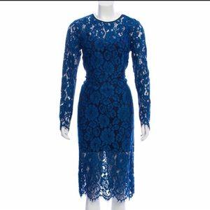 Veronica Beard • Gynne Blue Lace Midi Dress Small